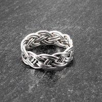 Keltischer Knoten Ring aus 925er Sterling Silber 68 (21,6) / 12 US