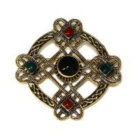 """Keltische Fibel """"DARACHA"""" mit Steine aus Bronze"""