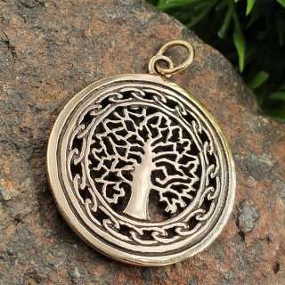 Weltenbaum Schmuck Anhänger aus Bronze
