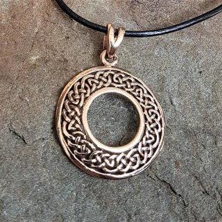 """Runder keltischer Knoten Schmuck Anhänger """"CADAN"""" aus Bronze"""