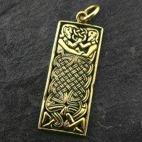 """Keltischer Schmuck Anhänger """"TEIGEN"""" aus Bronze"""