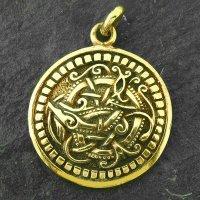 Wikinger Schmuck Amulett mit der Midgardsschlange aus Bronze