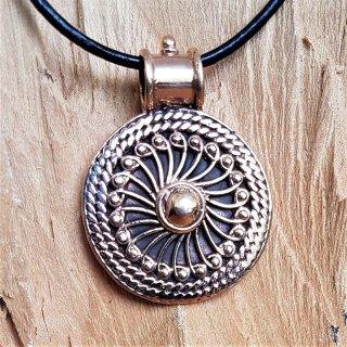"""Wikinger Sonnenrad Amulett """"SOL""""aus Bronze"""