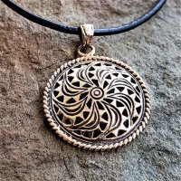 Sonnen Symbol Anhänger der Wikinger aus Bronze