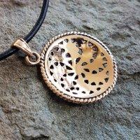 Sonnen Symbol Anhänger der Wikinger aus Bronze 30x26x4mm - 4,2g