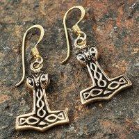 "Mjölnir Ohrhänger ""BJARR"" aus Bronze"
