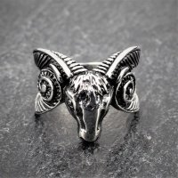 "Ziegenbock Ring ""Tanngrisnir"" aus Edelstahl"