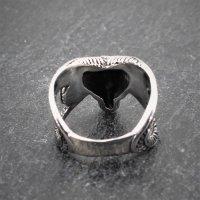 "Ziegenbock Ring ""Tanngrisnir"" aus Edelstahl 66 (21,0) / 11 US"