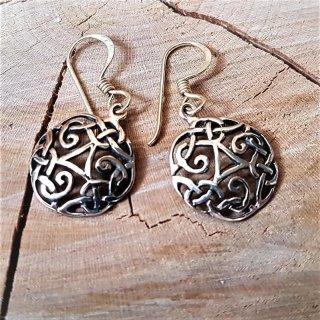 """Keltische Ohrhänger """"THORUN"""" mit keltischem Knoten aus Bronze"""