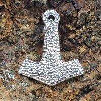 """Silber Thors Hammer Anhänger """"Futhark"""" mit Runen"""