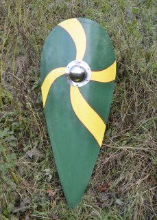 """Normannenschild """"SJARD"""", Holz, grün-gelb"""