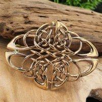 "Fibel ""EDANA"" keltischer Knoten aus Bronze"
