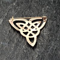 "Fibel ""FENRA"" keltischer Knoten aus Bronze"