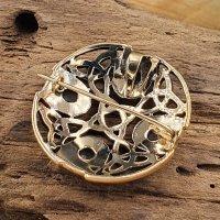 """Rundfibel """"JUNA""""mit keltischer Knoten - aus Bronze"""