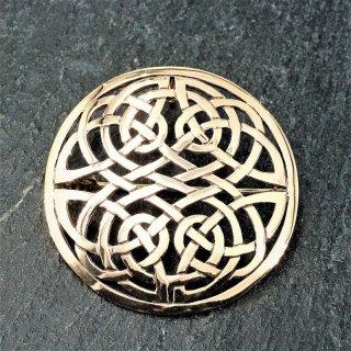 """Keltische Rundfibel """"BEDRAN"""" mit keltischer Knoten - aus Bronze"""