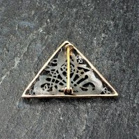 Keltische Schwan Brosche aus Bronze