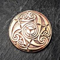 """Rundfibel """"VENIA"""" mit keltischen Muster aus Bronze"""