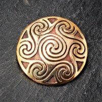 """Keltische Rundfibel """"NIA"""" mit Spiralen Muster..."""