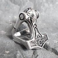 """Thors Hammer """"ODIN"""" Ring aus Edelstahl"""
