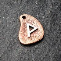Bronzeanhänger - Rune aus 925er Sterling Silber - Wunjo