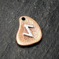 Bronzeanhänger - Rune aus 925er Sterling Silber - Eiwaz