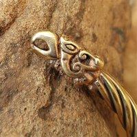 Armreif aus Bronze mit Adlerköpfe - Ø 6,6 cm