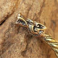 Fenriswolf Armreif aus Bronze - Ø 6,8 cm