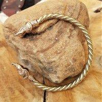 """Midgardschlange """"JÖRMUNGANDR"""" Armreif aus Bronze - Ø 7,0 cm"""