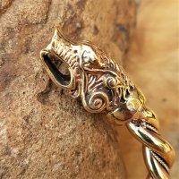 """Fenrir """"Hróðvitnir"""" Armreif aus Bronze - Ø 7,0 cm"""