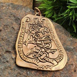 Runenstein Schmuck Anhänger aus Bronze