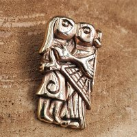 Wikinger Paar Schmuck Anhänger aus Bronze