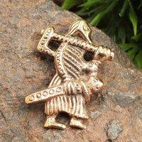 """Wikinger Krieger """"EGIL"""" Schmuck Anhänger aus Bronze"""