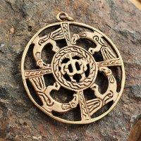 """Wikinger Schmuck Amulett """"Vier Raben"""" aus Bronze"""
