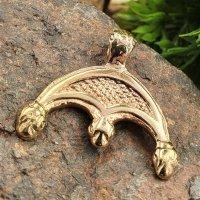 Replikat eines römischen Lunula-Amulettes aus Bronze
