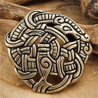 Midgardschlange Fibel im Urnes-Stil aus Bronze