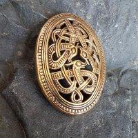 Miðgarðsormr Wikinger Ovalfibel aus Bronze