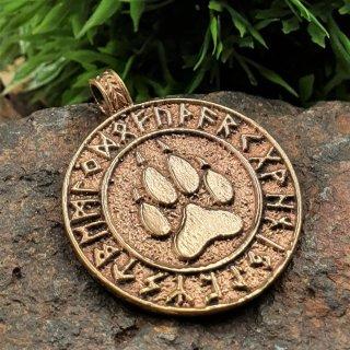 Bärenklaue mit Runen - Schmuck Amulett aus Bronze