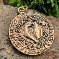 Hugin und Munin Schmuck Anhänger aus Bronze