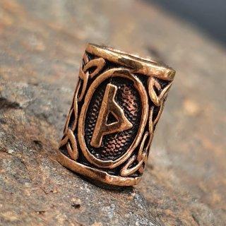 """Futhark Bartperle Rune """"THURISAZ"""" aus Bronze"""