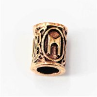 "Futhark Bartperle Rune ""MANNAZ"" aus Bronze"