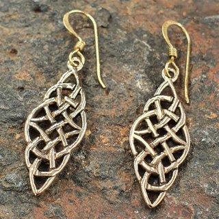 """Keltische Knoten Ohrhänger """"VAENA"""" aus Bronze"""