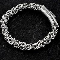 Wikinger Königsarmband aus Edelstahl 21cm