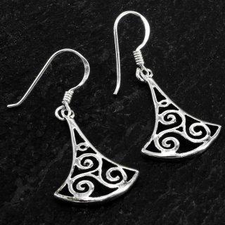 "Triskelen Ohranhänger ""BORGA"" aus 925er Sterling Silber"