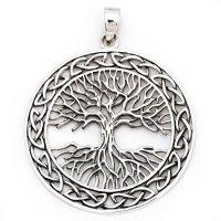Weltenbaum Anhänger aus 925 Sterling Silber