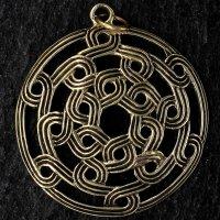 Runder keltischer Knoten Schmuck Anhänger...