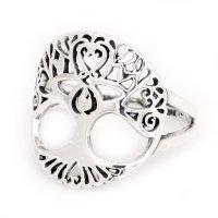 Weltenbaum Ring aus 925er Sterling Silber 52 (16,6) / 6 US