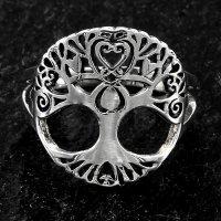 Weltenbaum Ring aus 925er Sterling Silber 66 (21,0) / 11 US