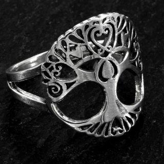 Weltenbaum Ring aus 925er Sterling Silber 68 (21,6) / 12 US