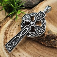 Keltenkreuz Anhänger mit keltischen Knoten, aus...