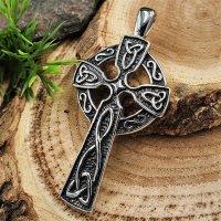 Keltenkreuz Anhänger mit keltischen Knoten, aus Edelstahl